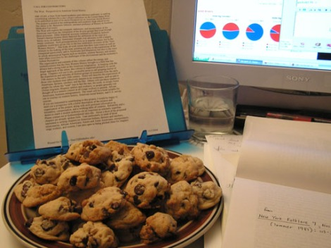 Election Day chocolate chip walnut cookies