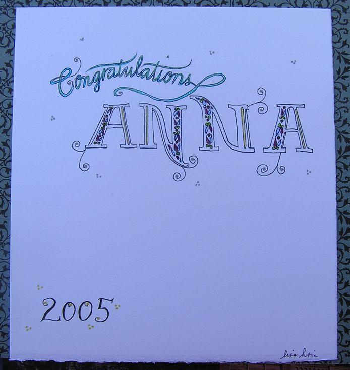 Anna's card