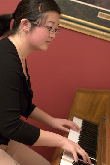 Lisa playing piano