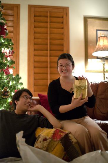Lisa showing present