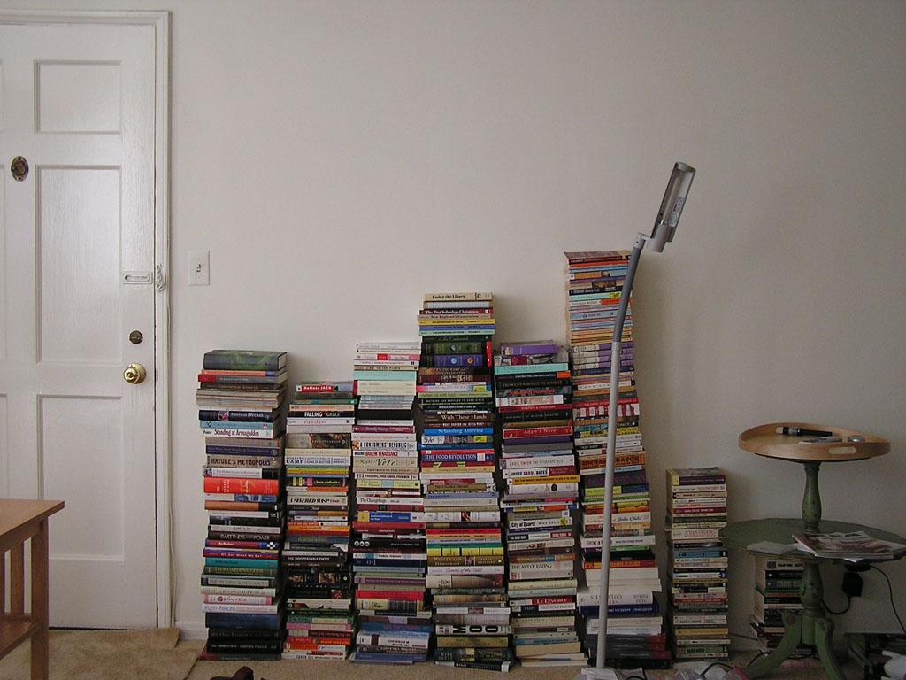 2006 April - New apartment - Bookstacks