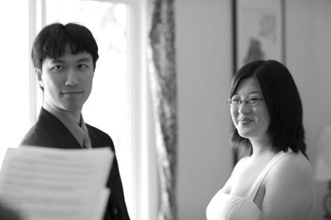 L - Lisa and Erik attentive (BW)