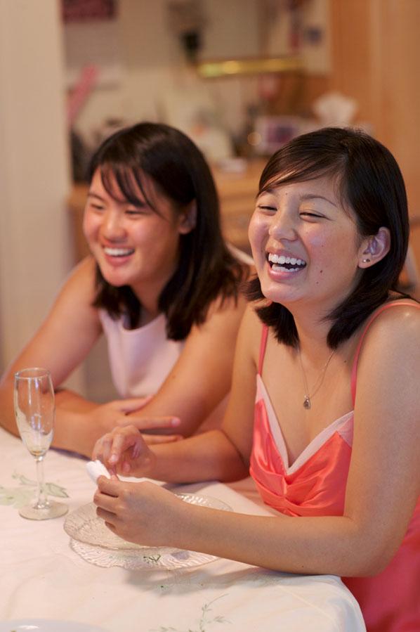 L - Shra and Al laughing