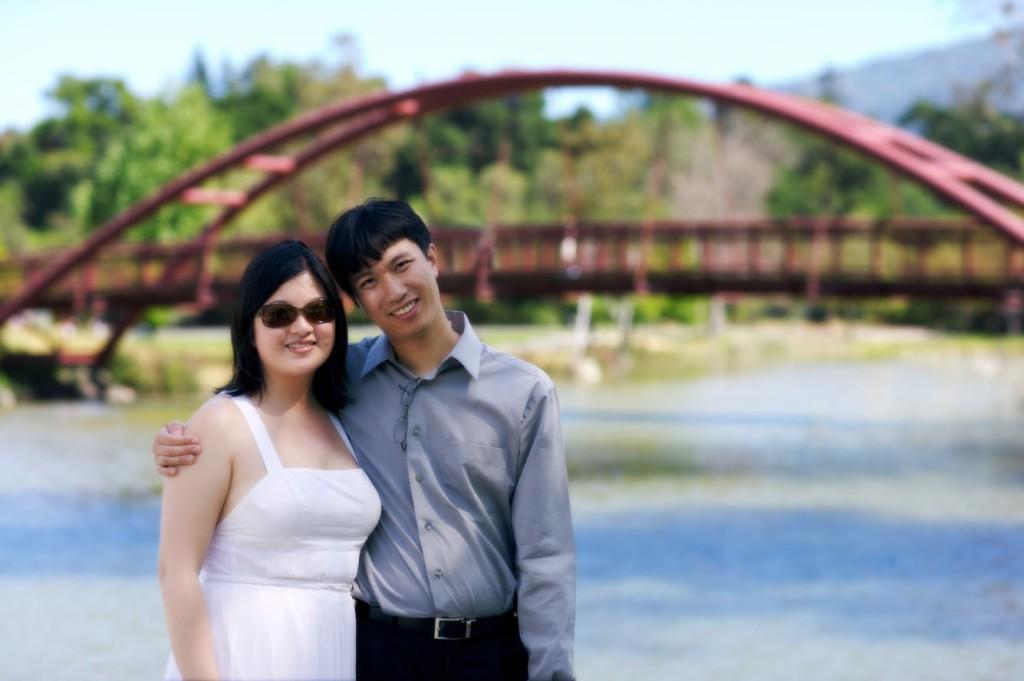 P - Lisa and Erik by the bridge