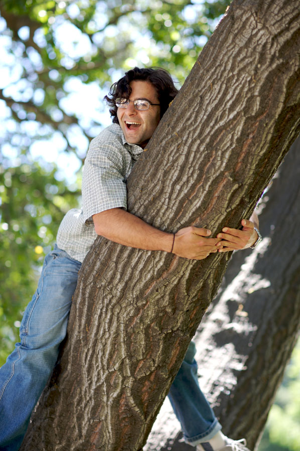 P - Patrick laughing in the tree