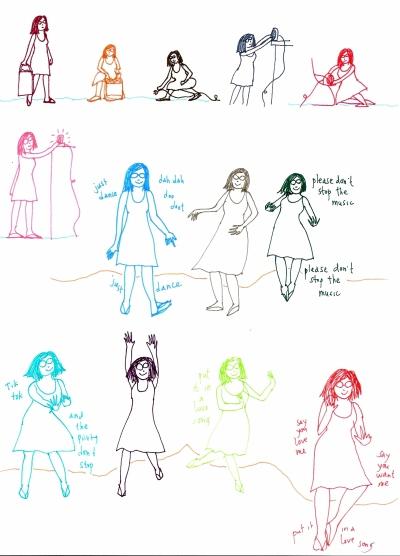 Dancers doodle