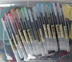 Muji colored pens
