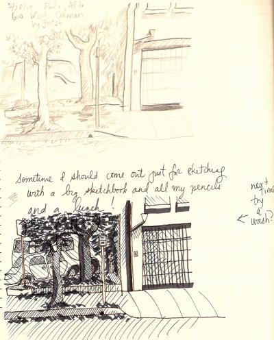 Palo Alto street sketches