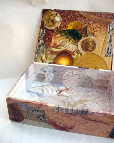 Gold and white box