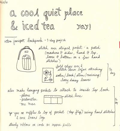 Backpack plans