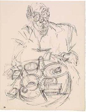 Giacometti sketch