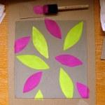 Completed leaf stencilling