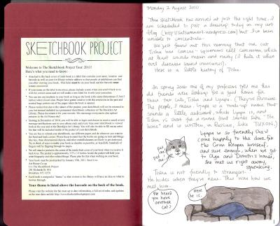 Page 1 of sketchbook