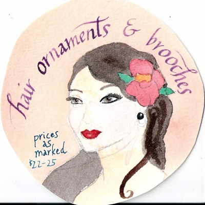Hair ornaments & brooches