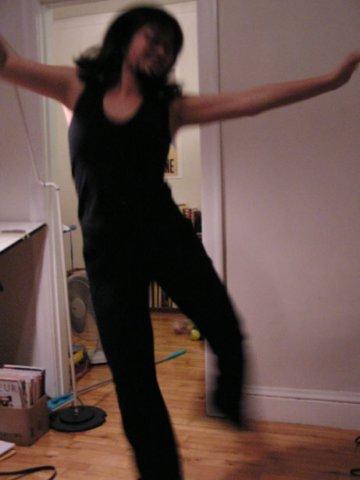 Lisa dancing 2003