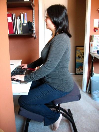 Kneeling chair in use