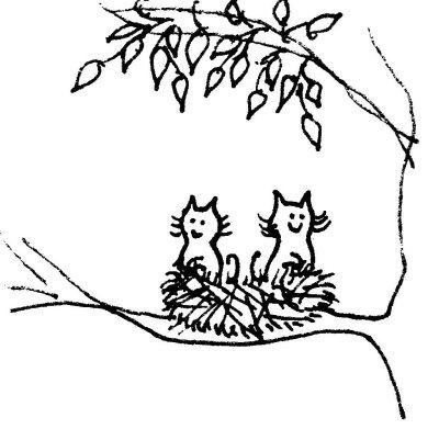 Nesting kitties