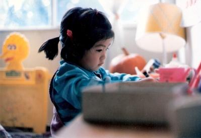 Lisa working