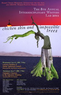 8th Annual Interdisciplinary Writers Lab 2011 poster: Chicken Skin and Impossible Trees