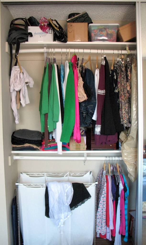 "My closet ""before"""