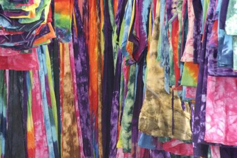 Tie-dyed clothing