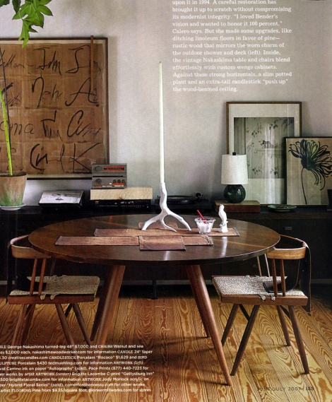 A quirky modernist room
