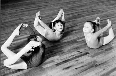 Three little girl ballerinas