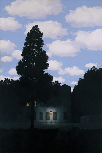 René Magritte, L'Empire des lumières (Empire of Light), 1953-54.