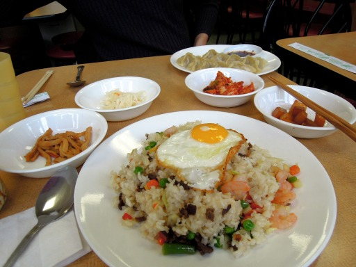 Korean fast-food dinner