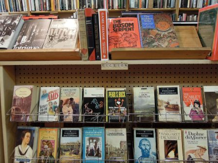 Fiction section at Balfour Books