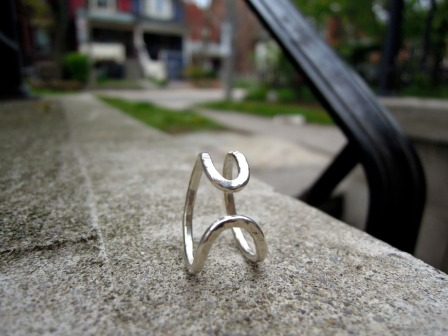 Funny-shaped ring