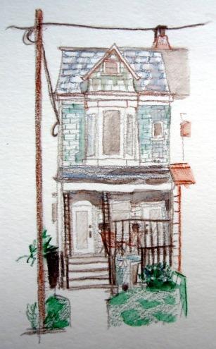 Sketch of Toronto house