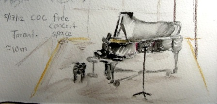 Sketch of the grand piano
