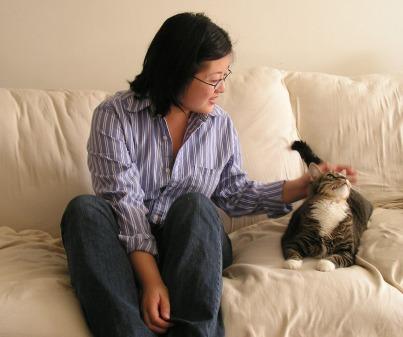 Petting Tisha in 2006