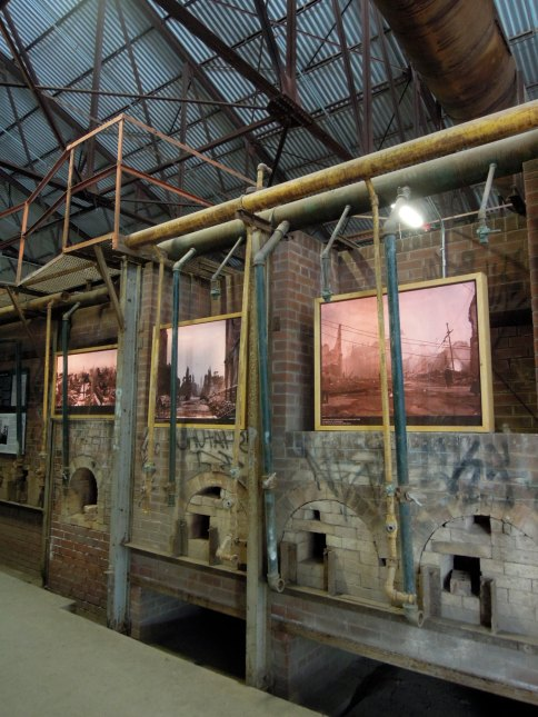 Exhibit inside the kilns