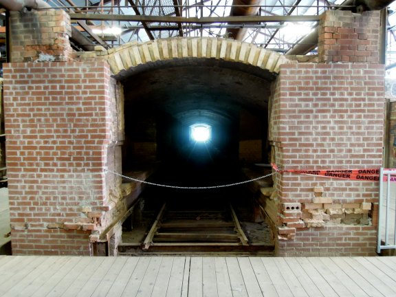 Tunnel for transporting cartloads of bricks