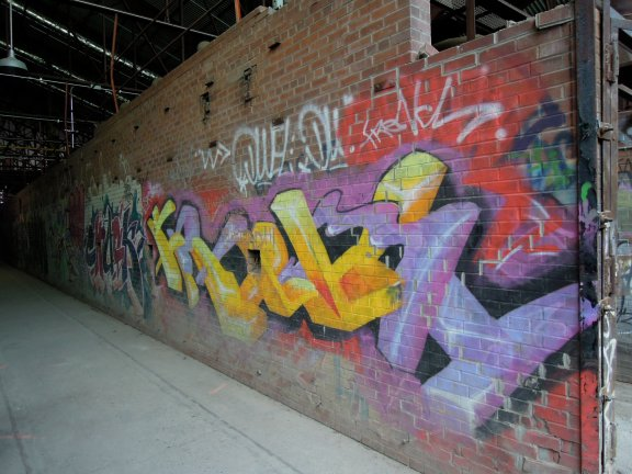 Graffiti in the brick works