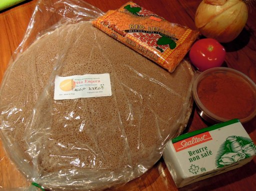 Injera and other ingredients