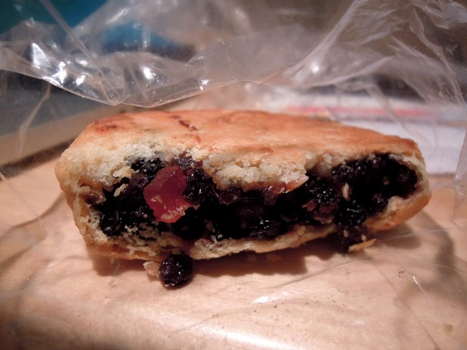 Dried fruit-filled bun from Harbord Bakery