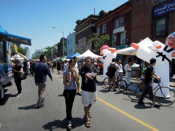 Street fair around noon