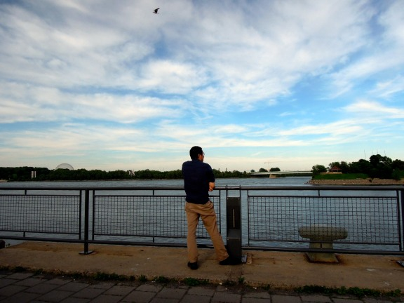Erik looking out over the St Lawrence River