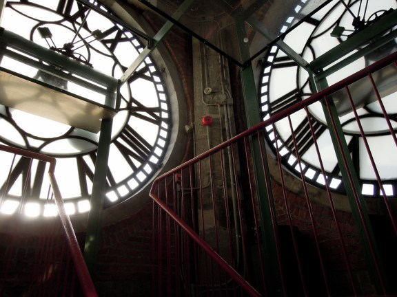 Inside the clock face