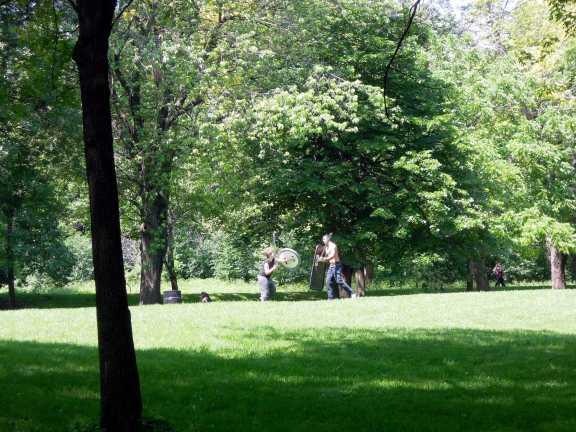 Swordfighting in the park