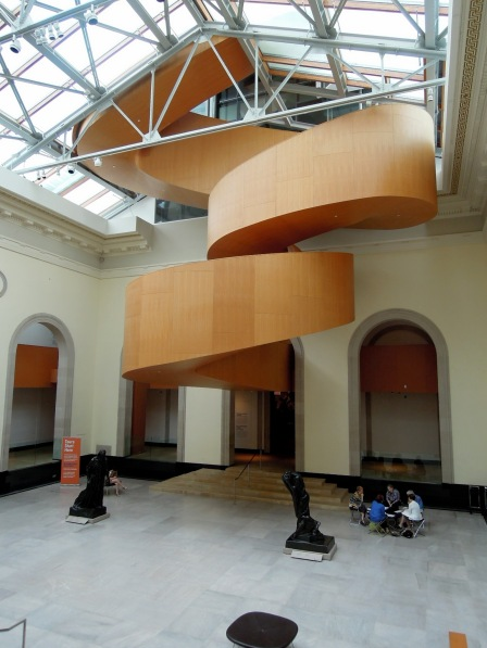 Floating spiraling staircase at the Art Gallery of Ontario