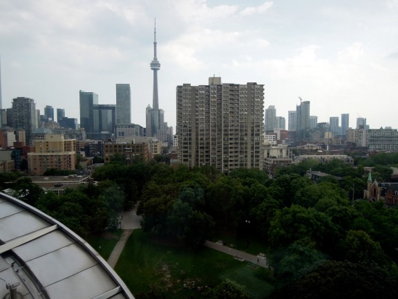 View of Toronto from the south staircase of the AGO