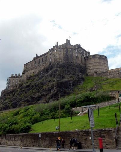 Edinburgh Castle as seen from Grassmarket