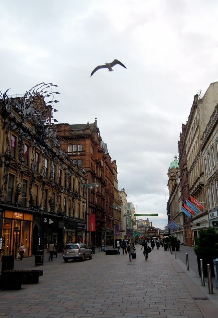 Pedestrian walk with Argyll Arcade on left