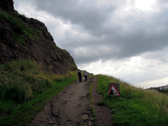 At the start of the Radical Road trail