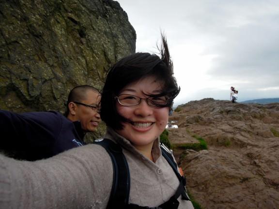 Lisa and Erik windblown at the summit