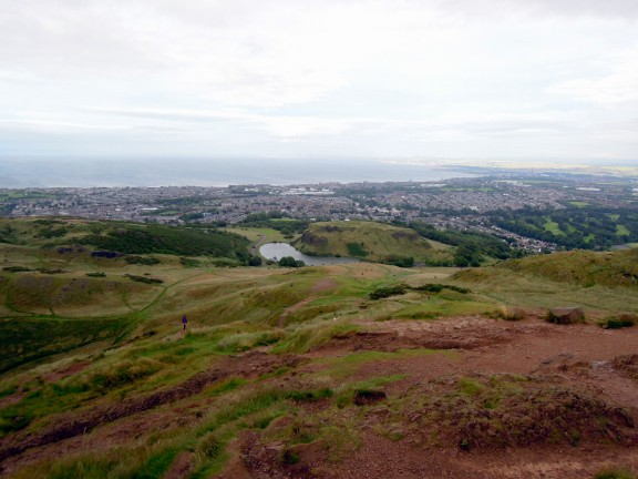 View down from Arthur's Seat